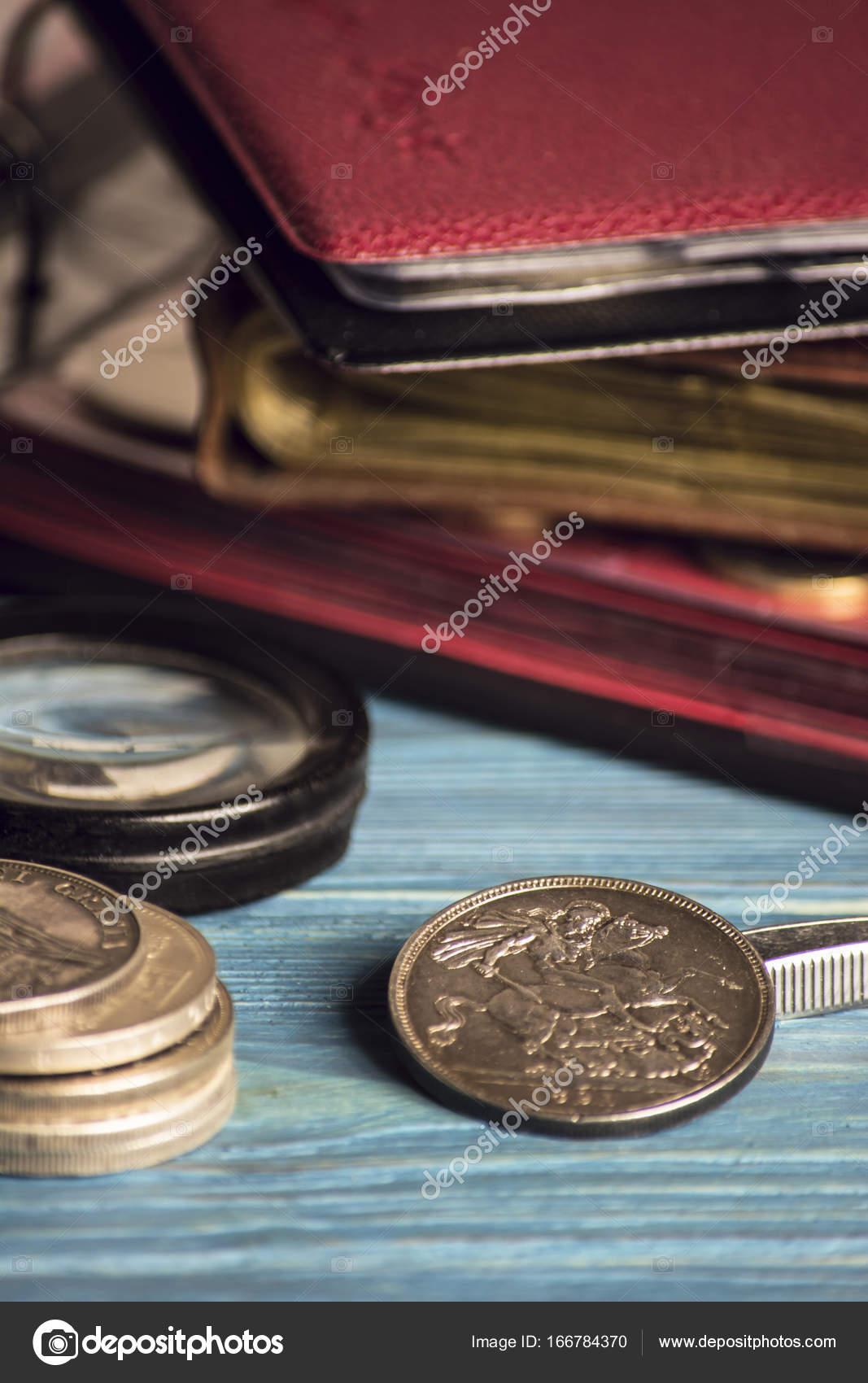 Alte Wertvolle Münzen Sammeln Stockfoto Mikitiger 166784370