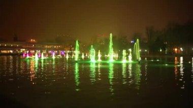 The beautiful dancing fountains, Chiang Mai, Thailand.