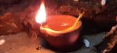 Gyönyörű égő lámpa a Diwali Fesztiválon Indiában