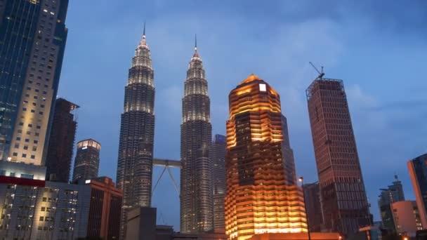 Petronas towers kuala lumpur malaysia evening time lapse zoom 4k petronas towers kuala lumpur malaysia evening time lapse zoom 4k stock video publicscrutiny Images