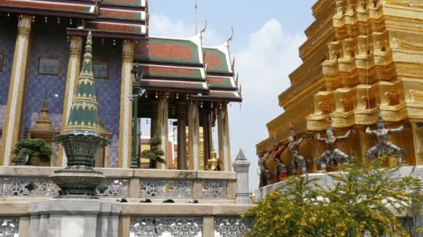Wat Phra Kaew Thailand Bangkok Grand Palace Asia Clouds 4k