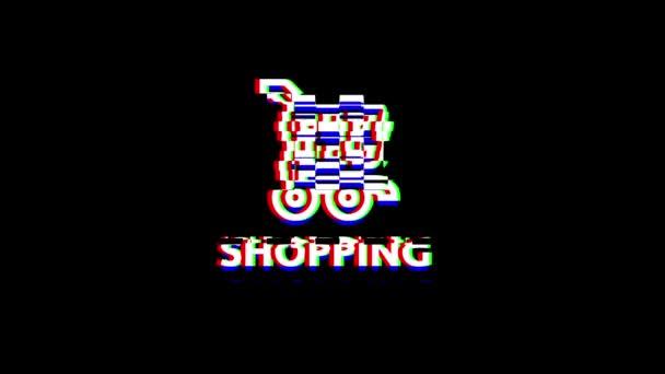 A Glitch Effektus Bevásárló ikon művészetéből. Alpha csatorna Premultiplied - Matted fekete színnel