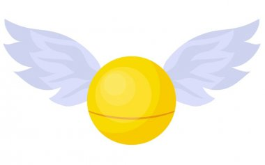 Magic Snitch. Quidditch Hogwarts School. A magical item. Ball with wings..