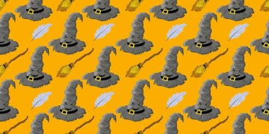 seamless pattern for teens. Youth style. Magic and magic. Hogwarts School.