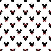 Fotografie Vzor bezešvé symbolem mickey mouse