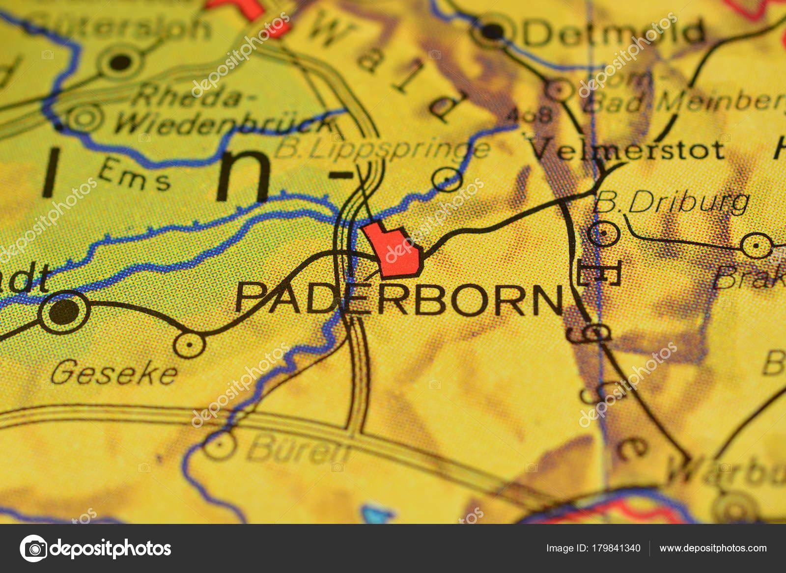 Karte Paderborn.Stadt Paderborn Name Der Karte Stockfoto Photographer 20 179841340