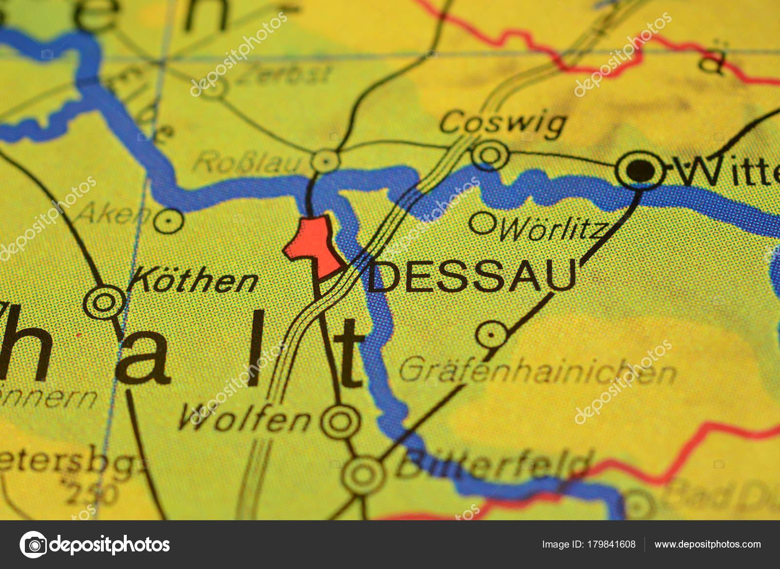 City Name Dessau Map Stock Photo photographer20 179841608