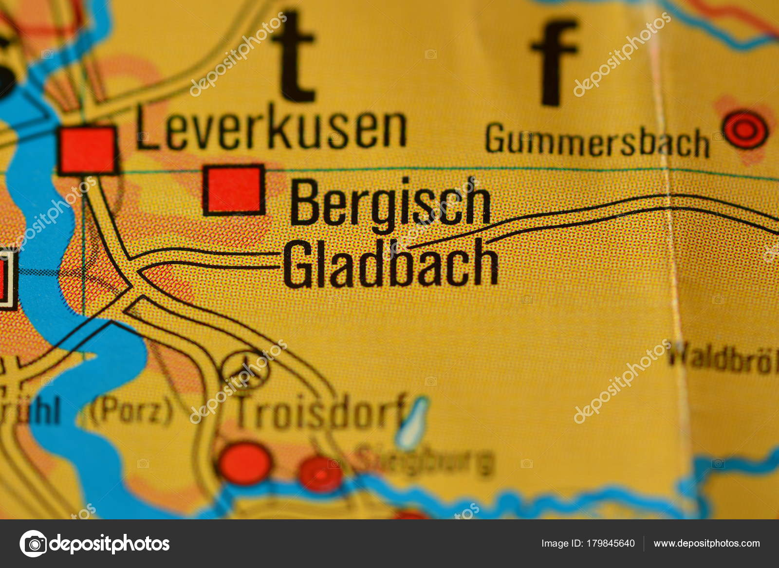 City Name Bergisch Gladbach Map Stock Photo photographer20
