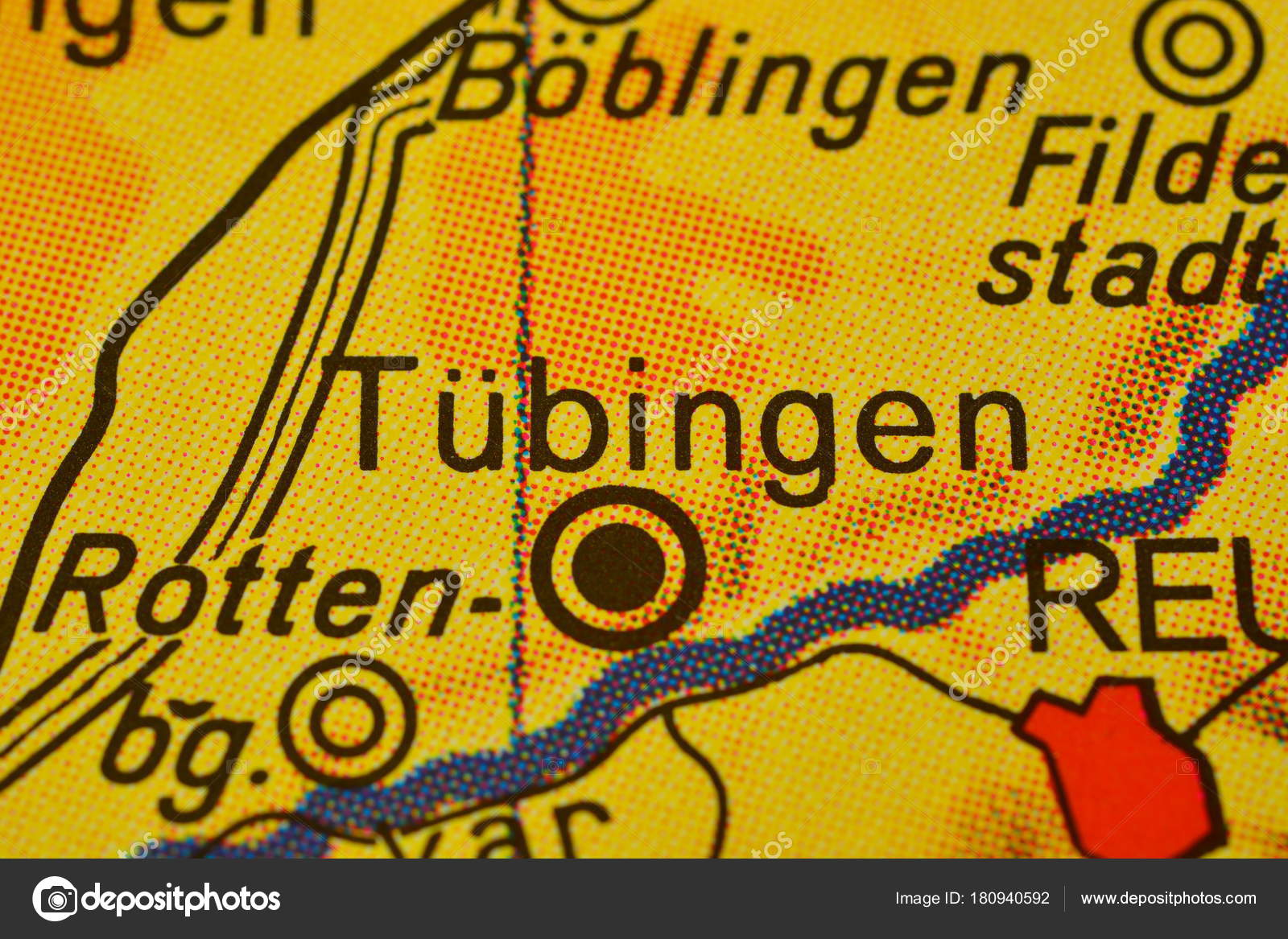 city name tbingen tubingen germany on the map photo by photographer 20