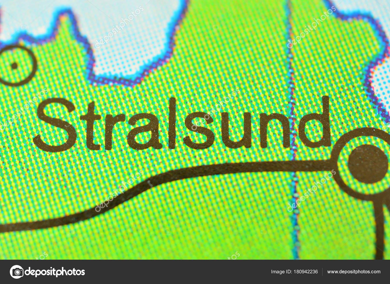 Stralsund Karte.Stadt Name Stralsund Deutschland Auf Der Karte Stockfoto