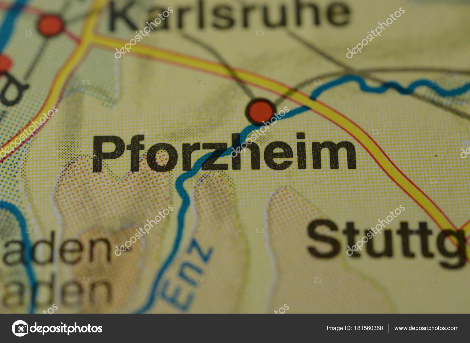 Pforzheim Karte.Stadt Name Pforzheim Deutschland Auf Der Karte Stockfoto