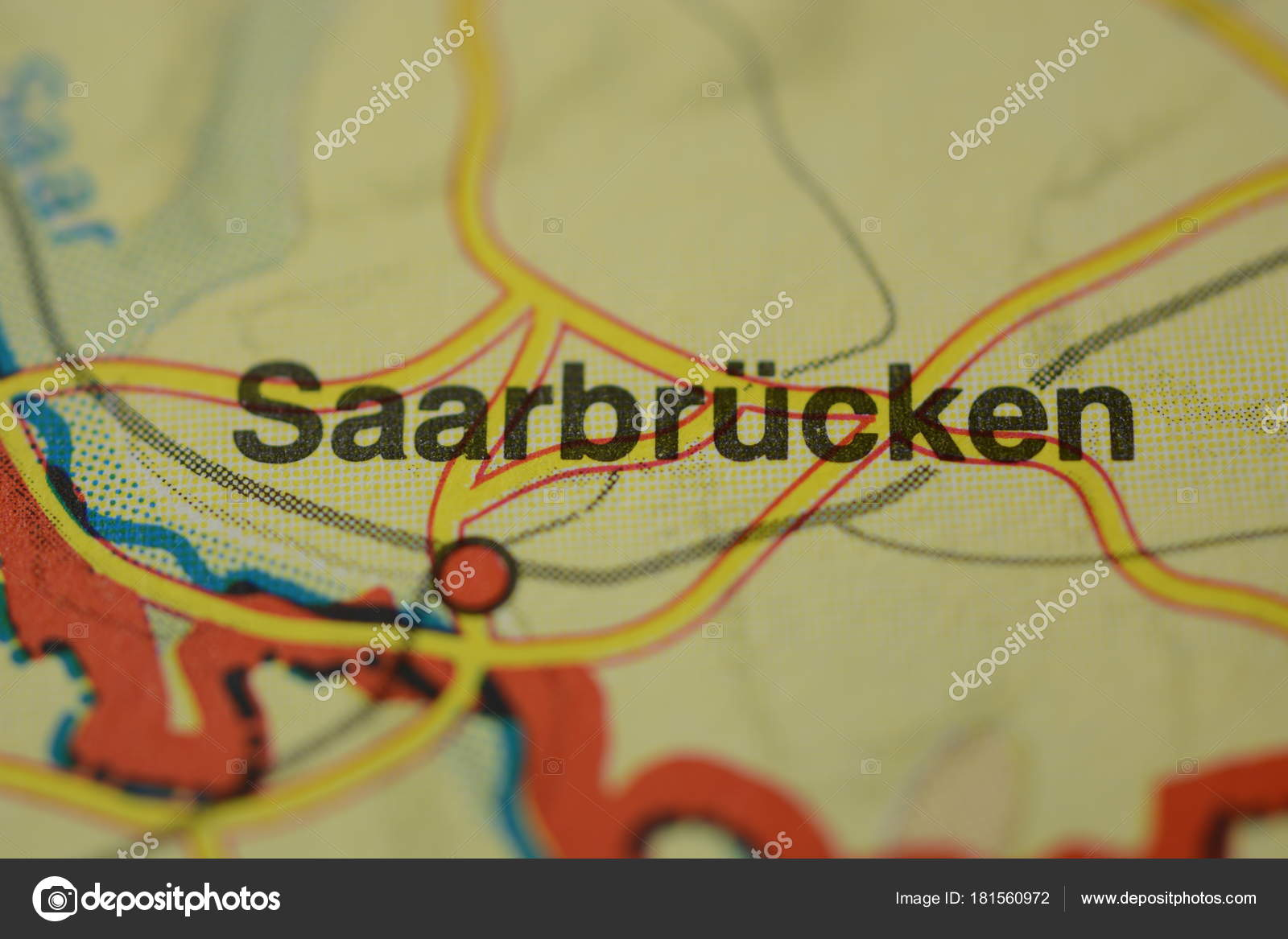 Saarbrucken Germany Map.City Name Saarbrucken Germany Map Stock Photo C Photographer 20