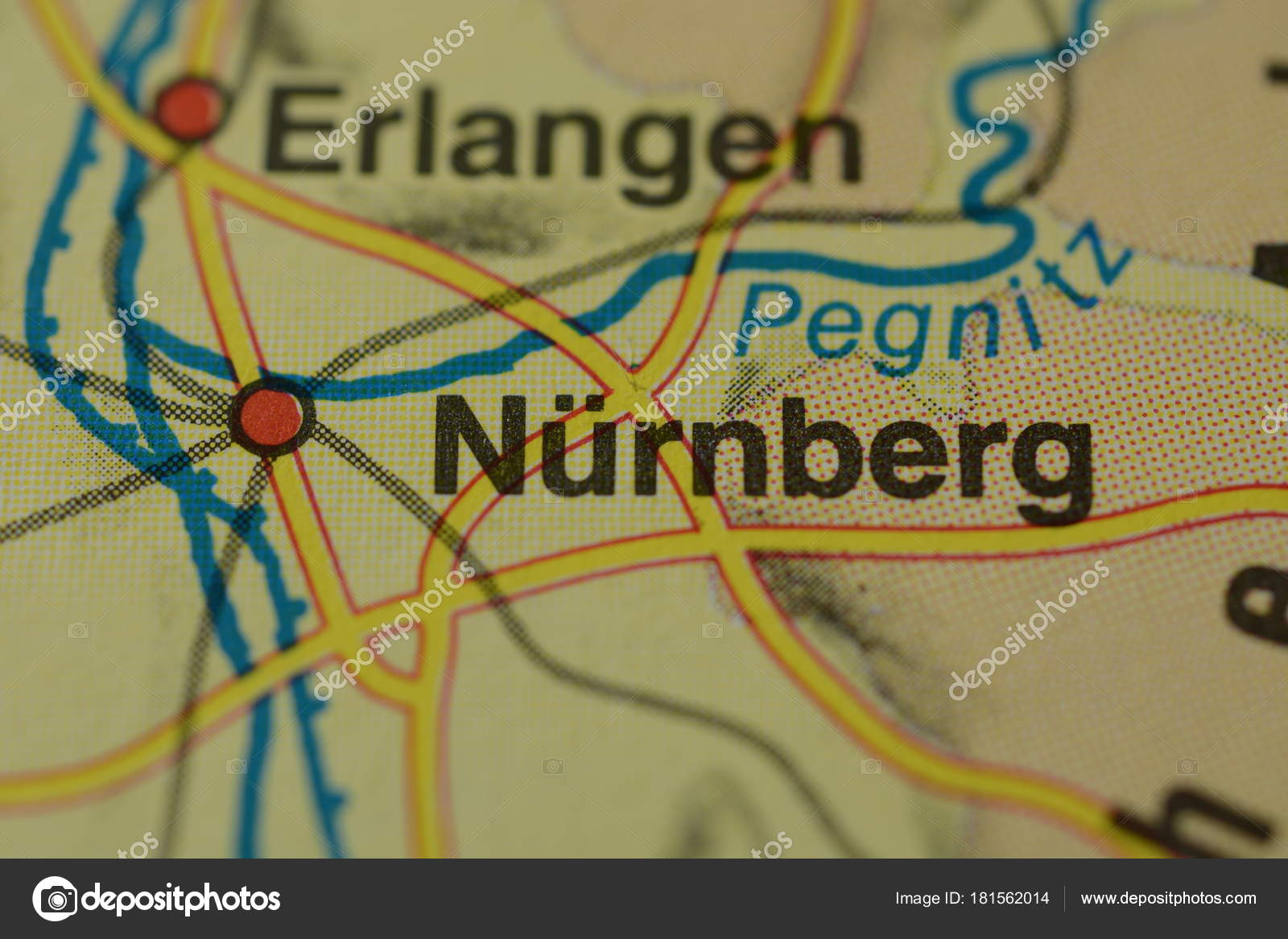 Map Of Germany Nuremberg.City Name Nrnberg Nuremberg Germany Map Stock Photo C Photographer