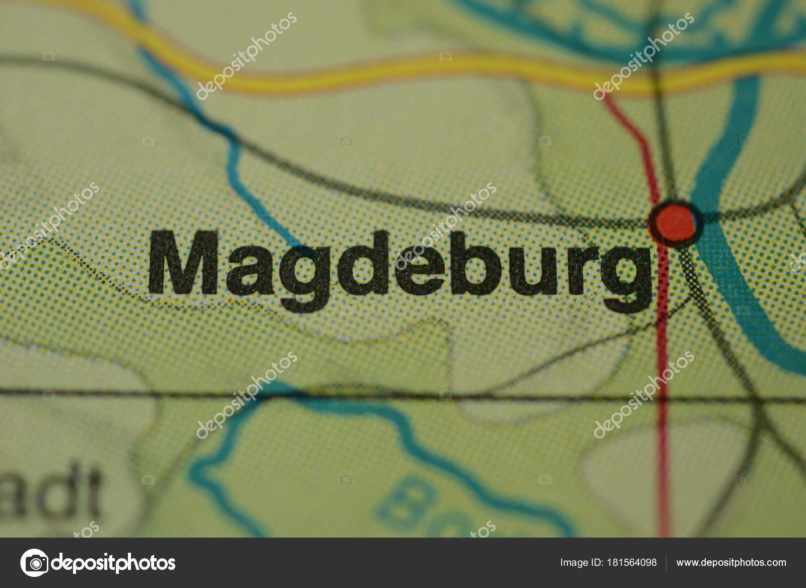 City Name Magdeburg Germany Map Stock Photo C Photographer 20