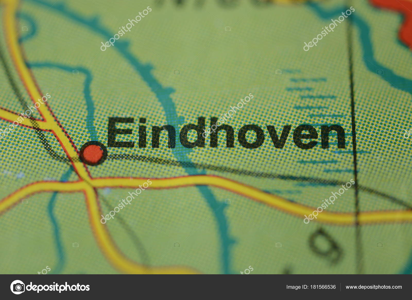 City Name Eindhoven Netherlands Map — Stock Photo © photographer-20 ...