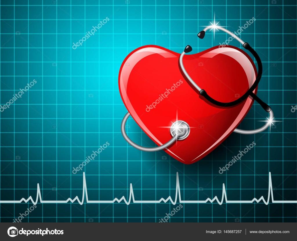 Equipo Médico Estetoscopio Con La Forma Del Corazón