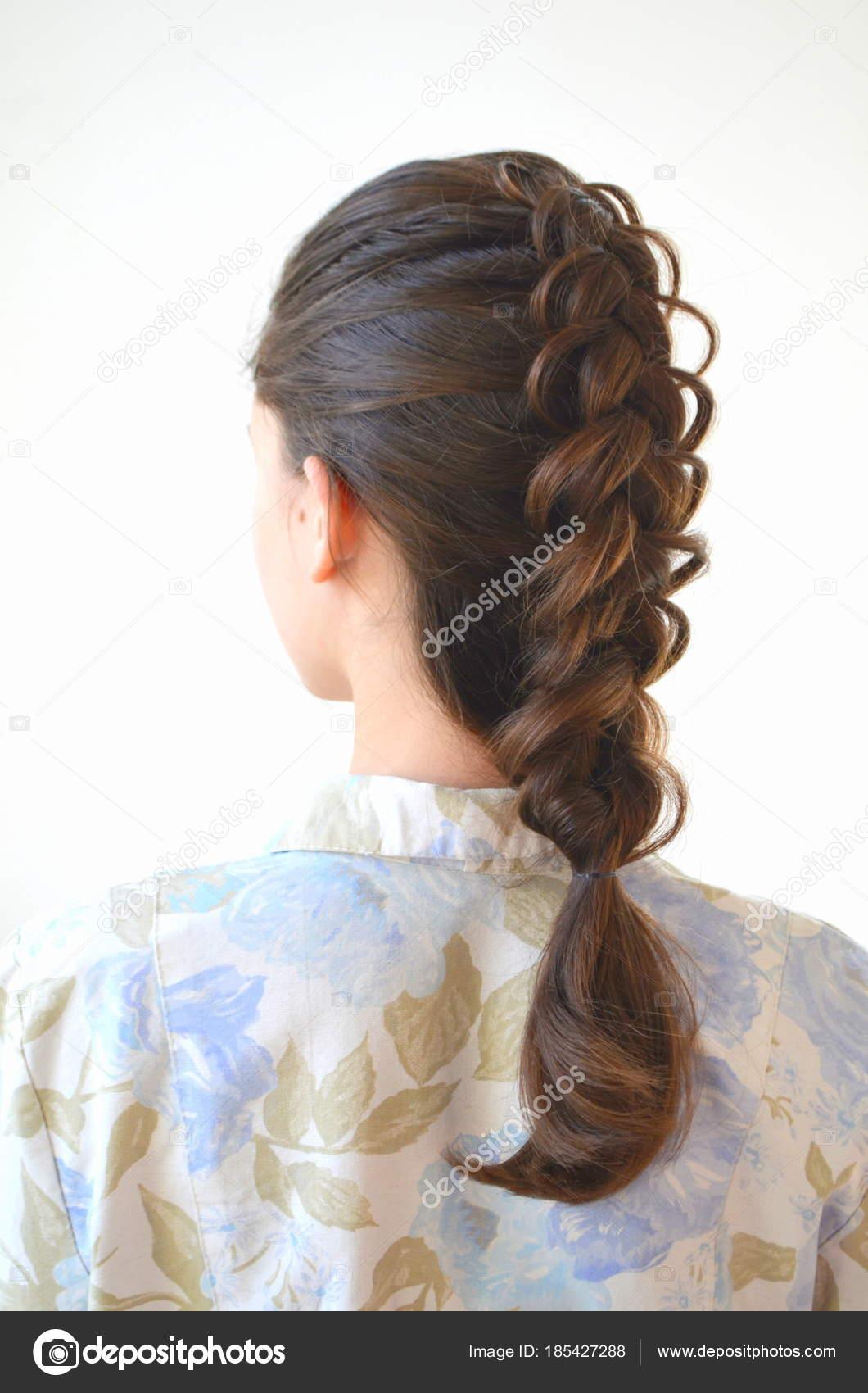 Openwork French Braid Hairstyle Medium Length Mastery Weaving Hair