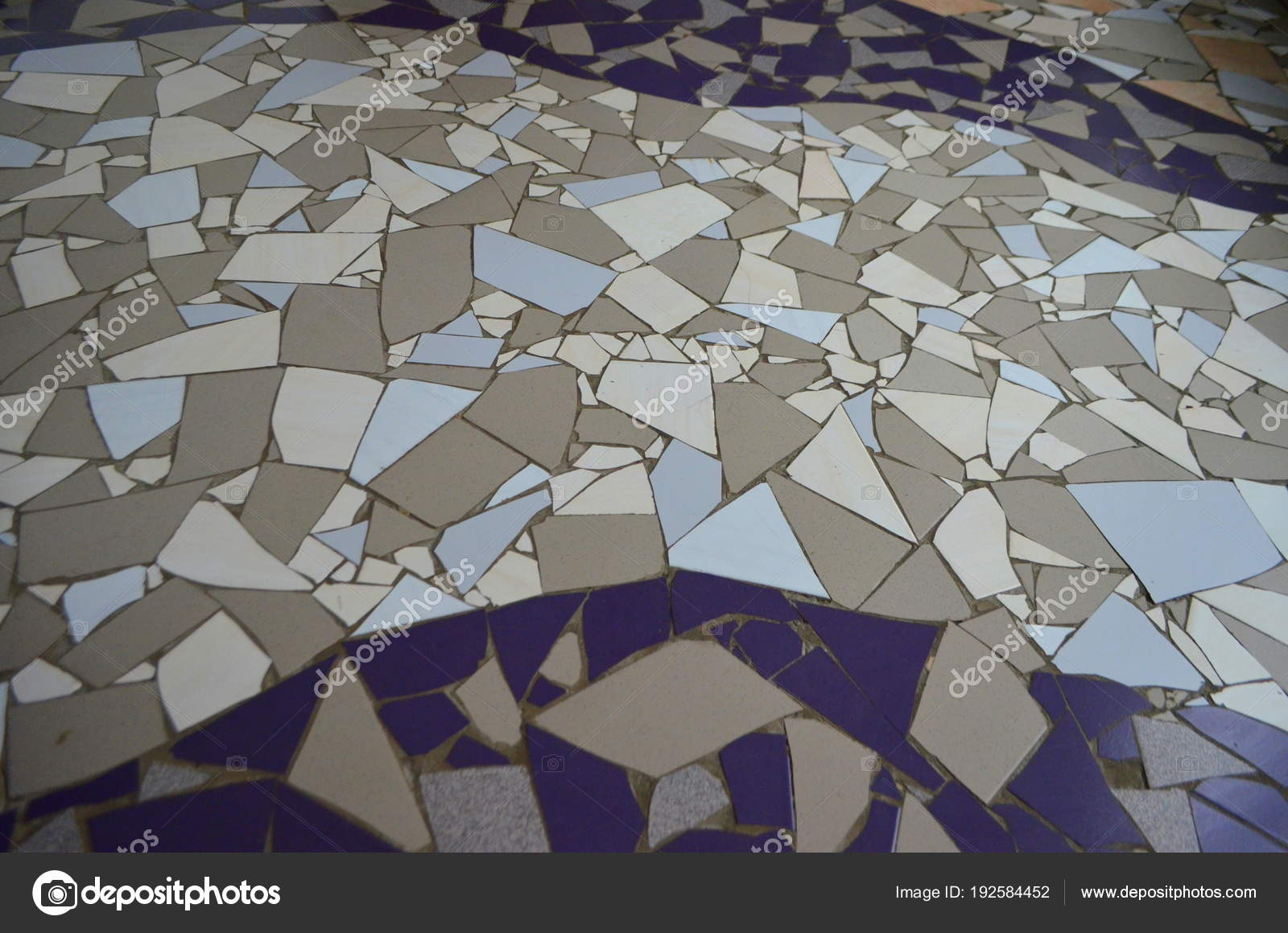 Floor Mosaic Broken Tiles Interior Oriental Modern Stock Photo
