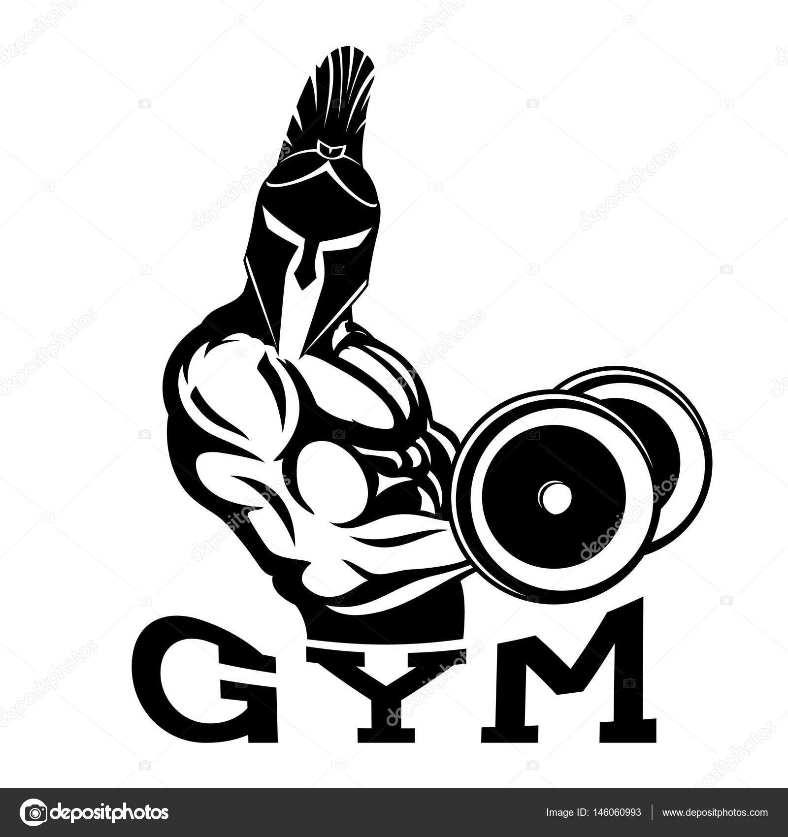 Bodybuilder spartan in the gym. — Stock Vector © taronin #146060993 for Bodybuilding Graphic Design  58lpg
