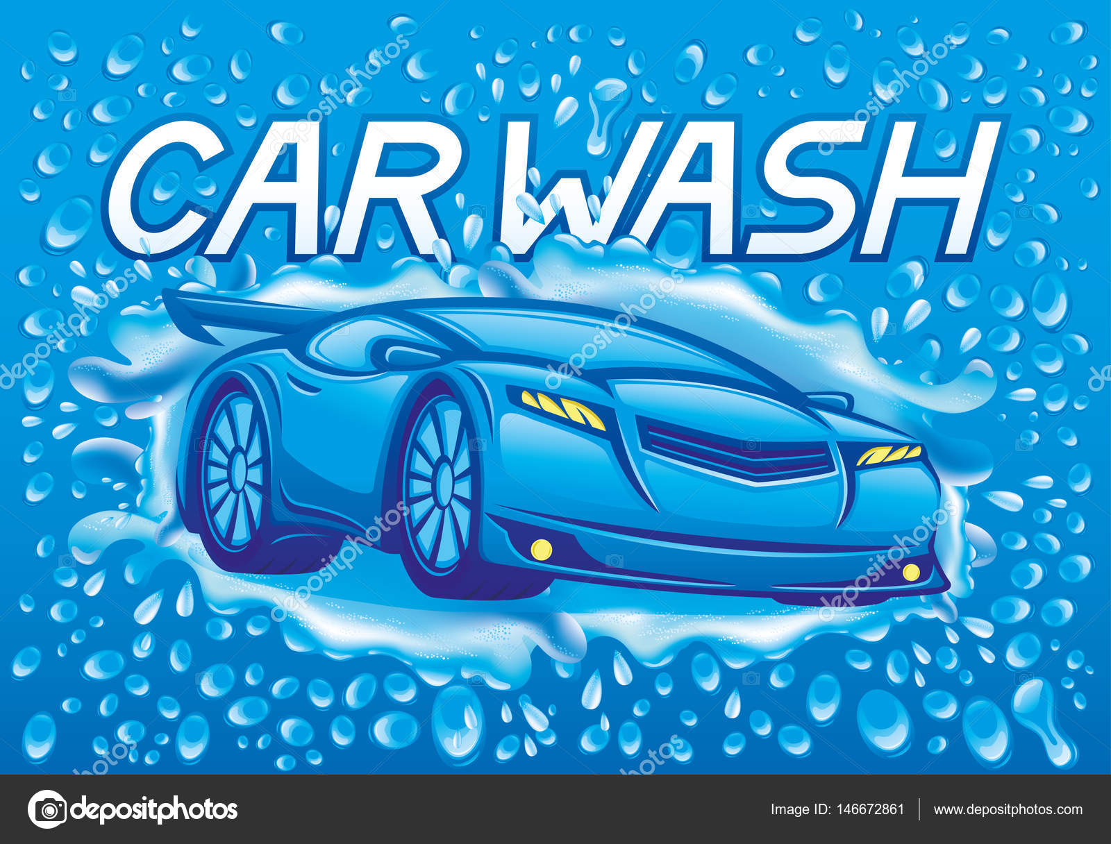 Car Wash Sign Stock Vector C Taronin 146672861