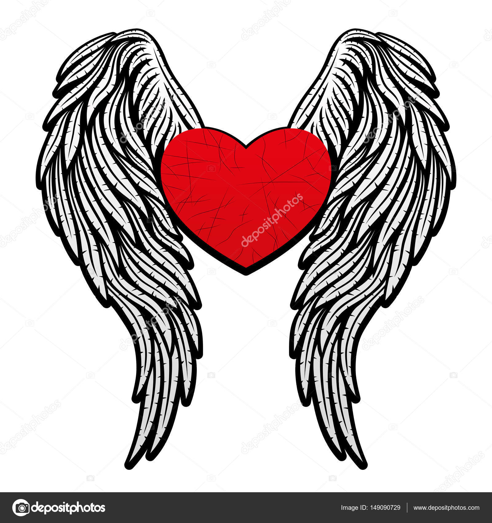 Heart With Wings Stock Vector Taronin 149090729