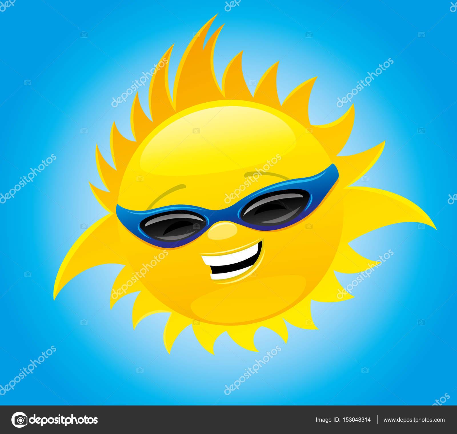 9bc04a2af658 Солнце в солнцезащитные очки — Векторное изображение © taronin ...