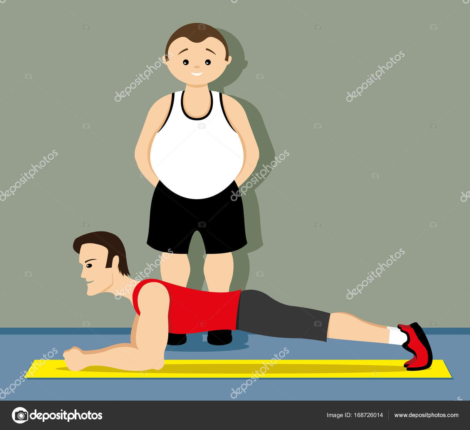 Exercício para os músculos abdominais  — Vetores de Stock