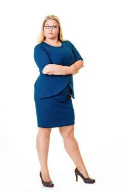 Confident overweight businesswoman