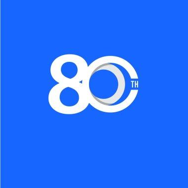 80 Th Anniversary Vector Template Design Illustration
