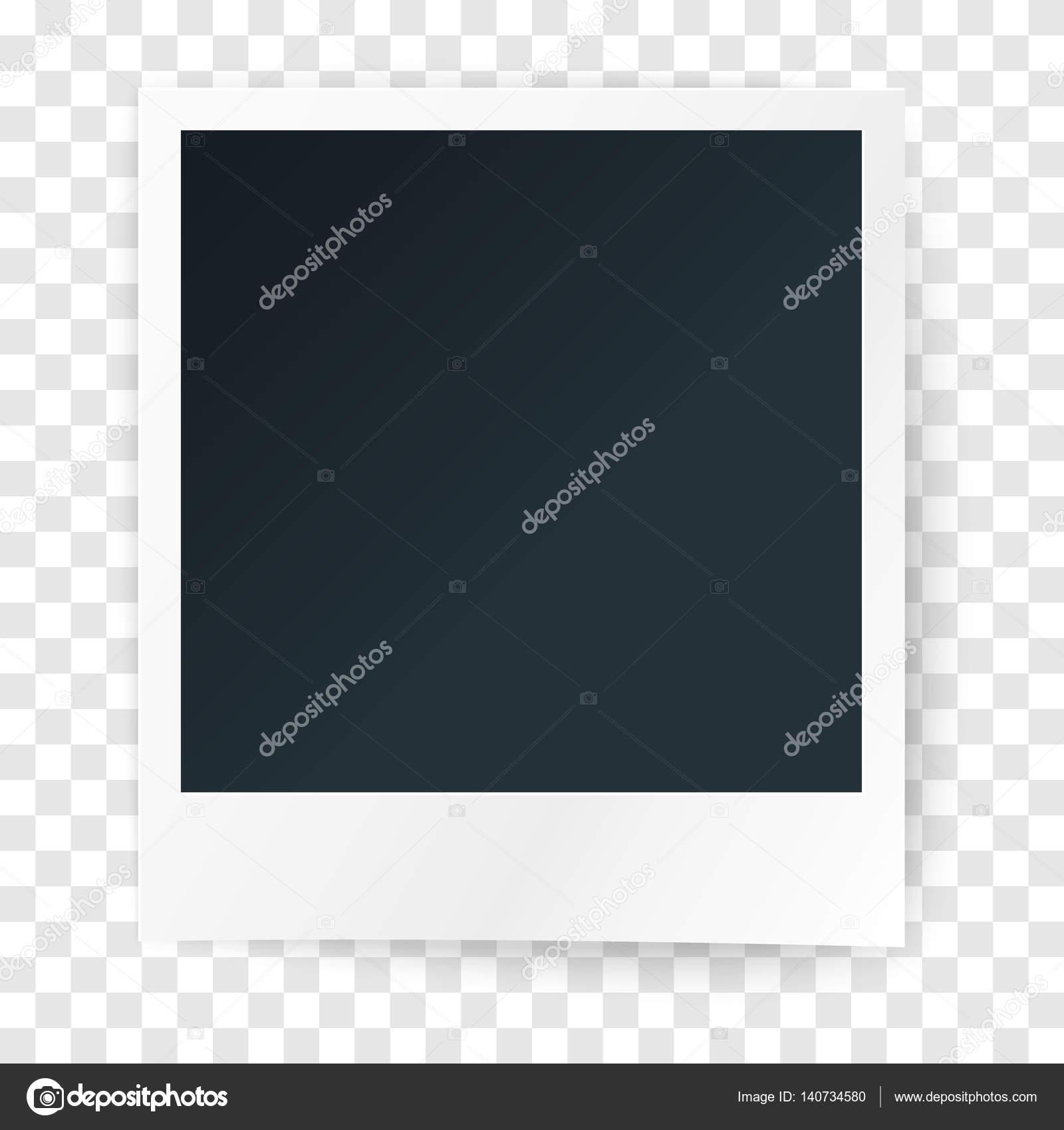 Papier-Rahmen für Foto auf transparenten Hintergrund, Vektor ...