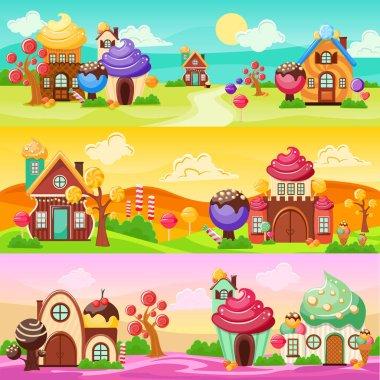 Sweets Landscape Banners Set