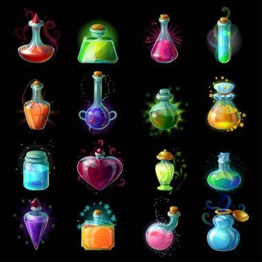 Magic Bottles Icon Set
