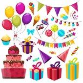 sada ikon narozeninový večírek