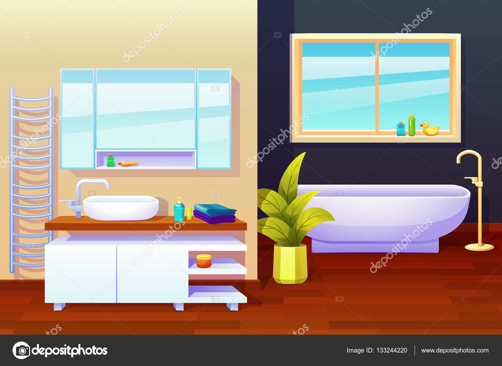 3d renderizado de un cuarto de baño interior — Vector de ...