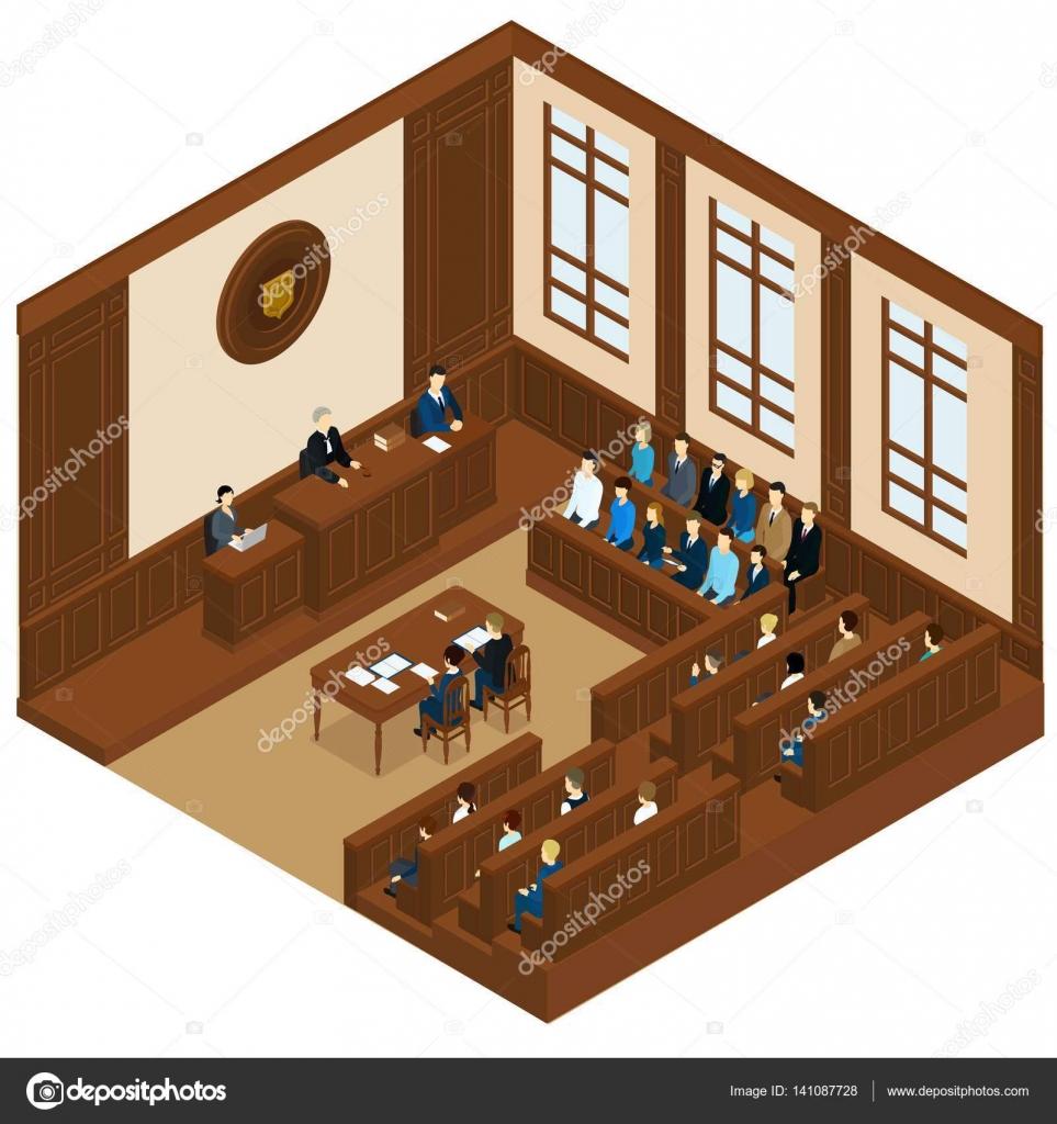 Plantilla isométrica de la sesión de la corte — Vector de stock ...