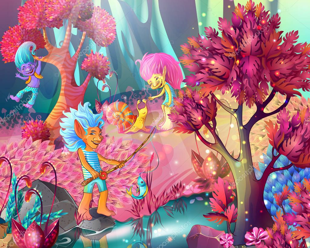 Cartoon Game Design Magic Template