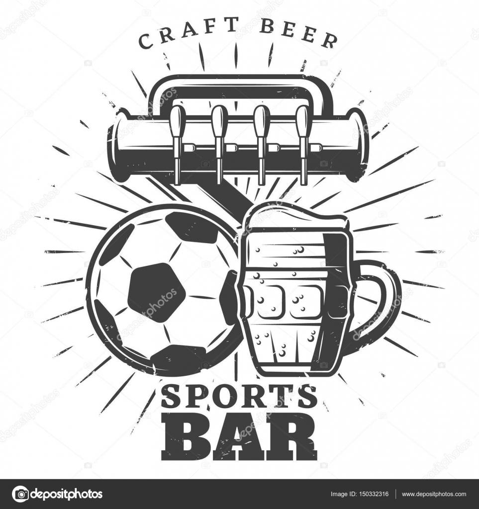 Monochrome Sport Pub Template — Stock Vector © Mogil #150332316