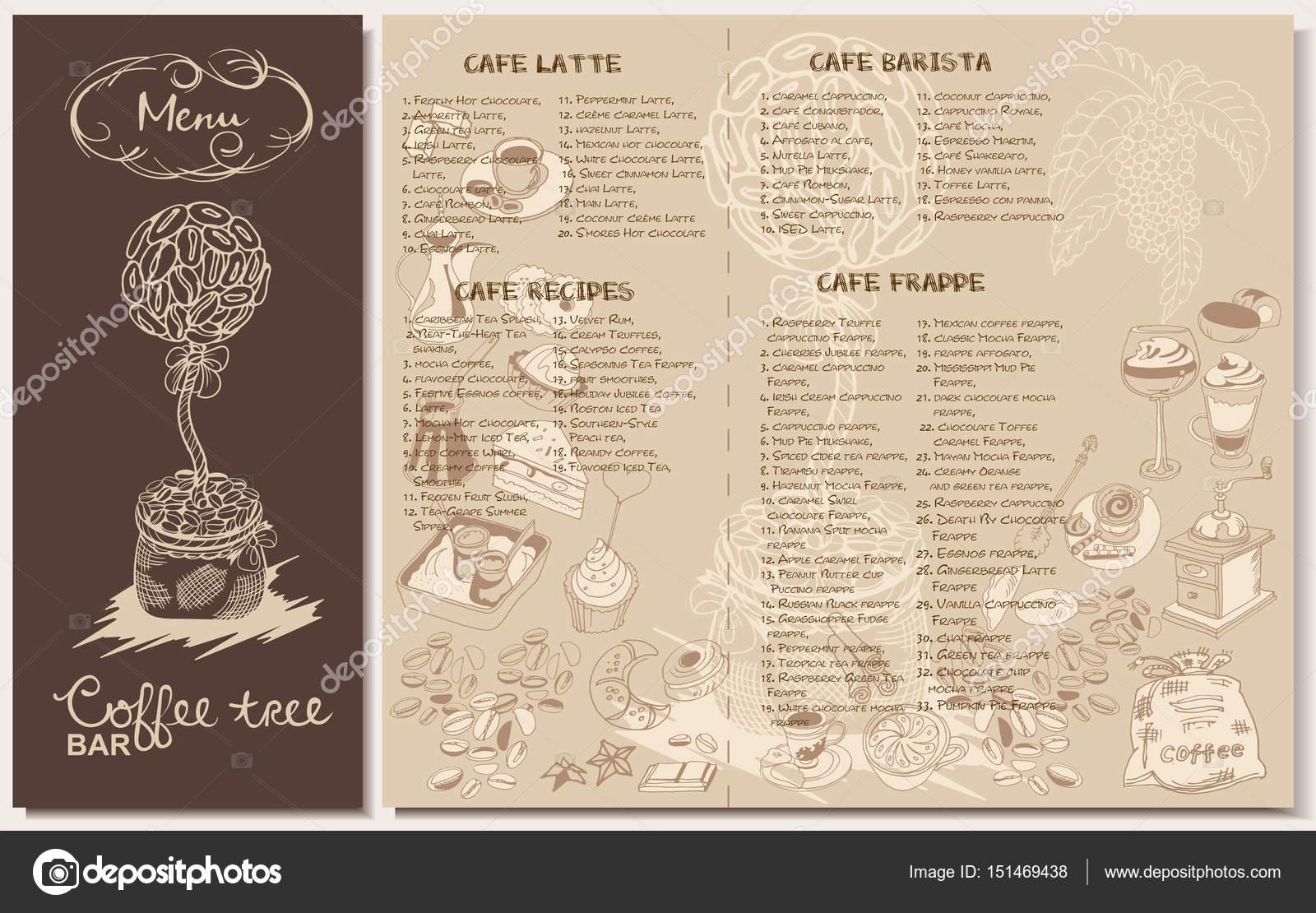 Doodle-Kaffee Restaurant Menü-Vorlage — Stockvektor © Mogil #151469438