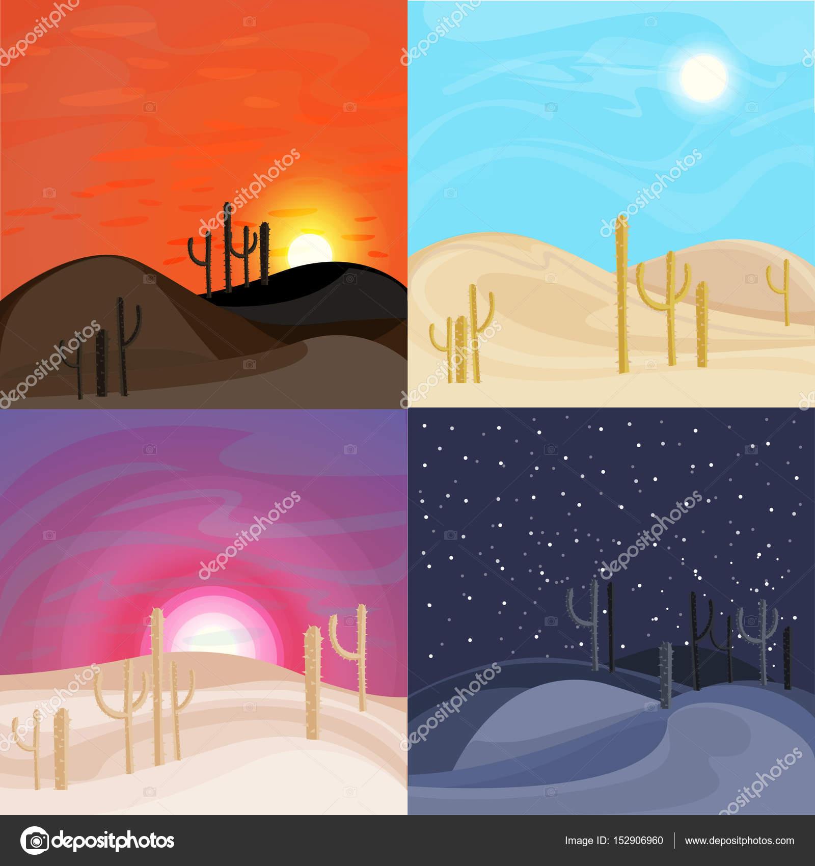 Plantillas de paisaje de desierto de arena — Archivo Imágenes ...
