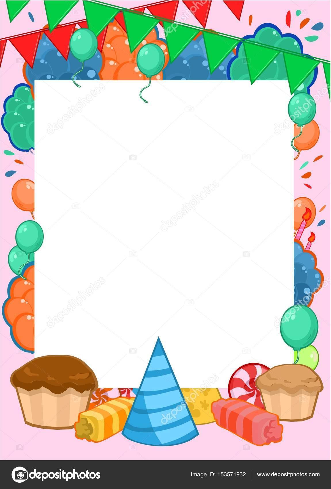 Alles Gute zum Geburtstag Einladung helle Vorlage — Stockvektor ...