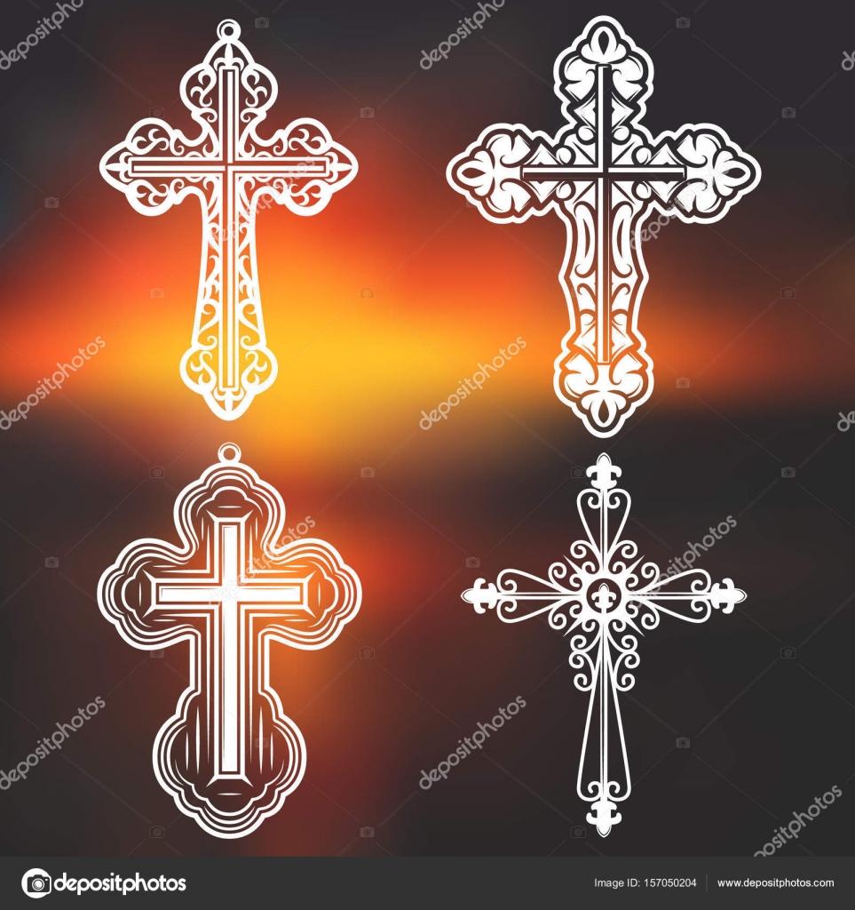 Imágenes Tipos De Cruces Goticas Vintage Blanco Religioso