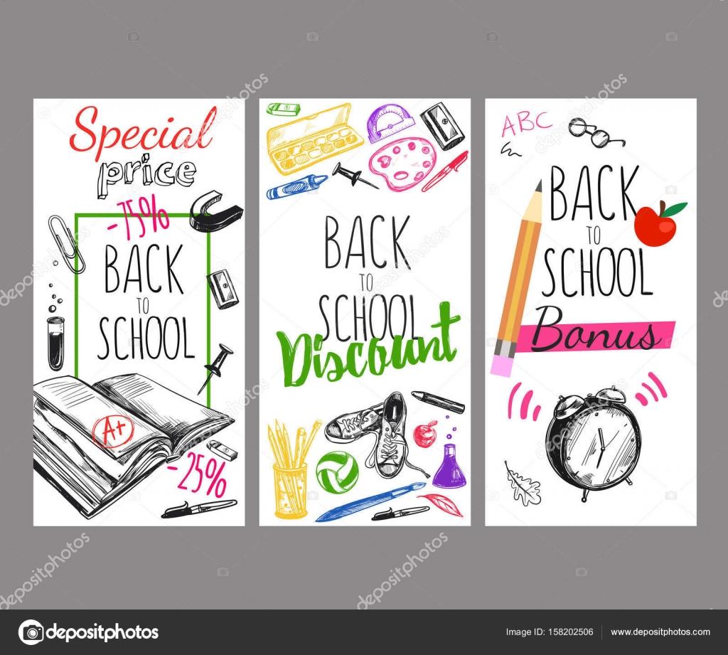 Zpátky do školy leták Set — Stock Vektor © Mogil  158202506 95859a5350
