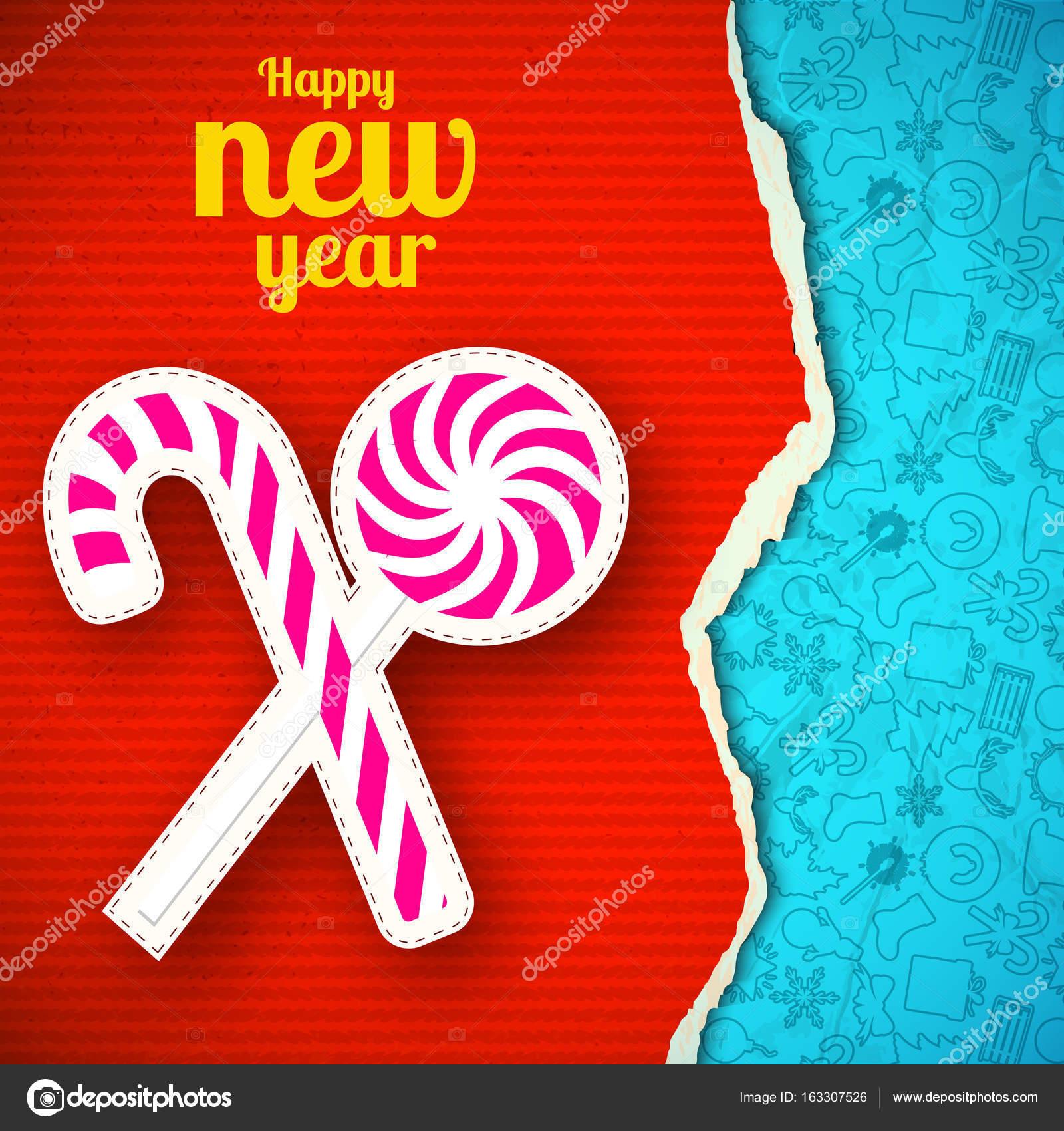 Plantilla de papel rasgado año nuevo — Vector de stock © Mogil ...