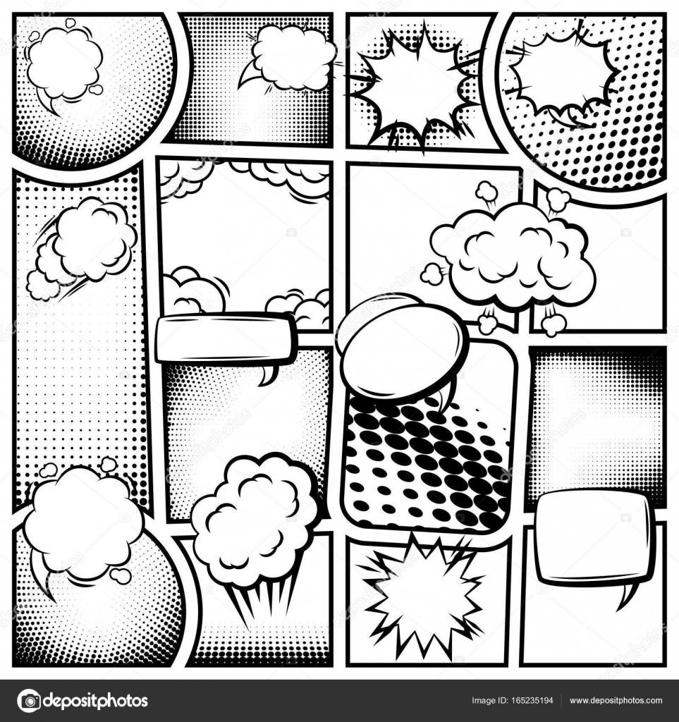 Comic-Buch-Seitenvorlage — Stockvektor © Mogil #165235194