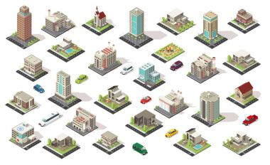 Isometric City Elements Collection