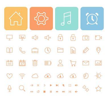 Minimalistic Icons Set