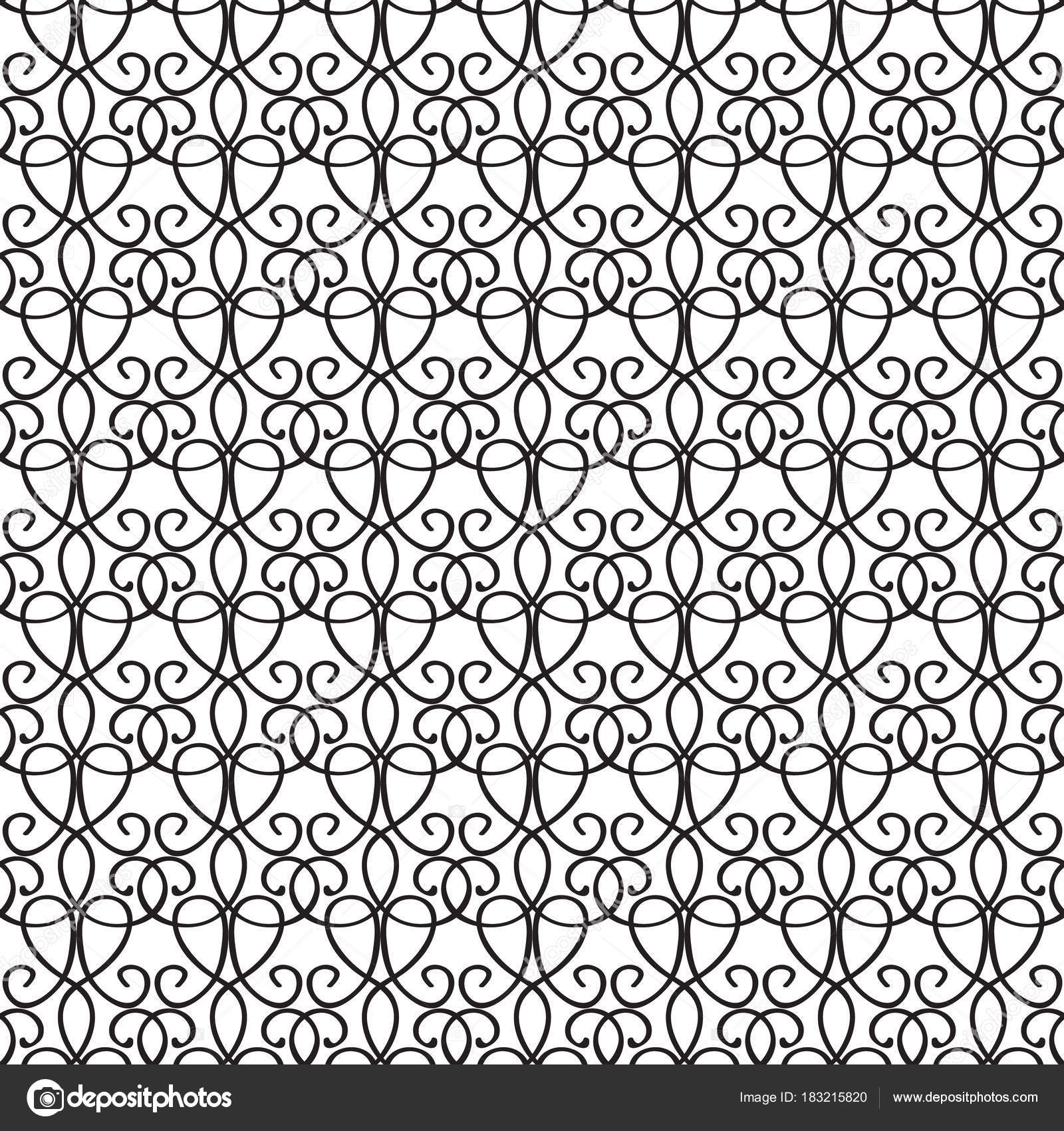 Nahtlose Muster Abstrakt Elegante Arabesque Stockvektor