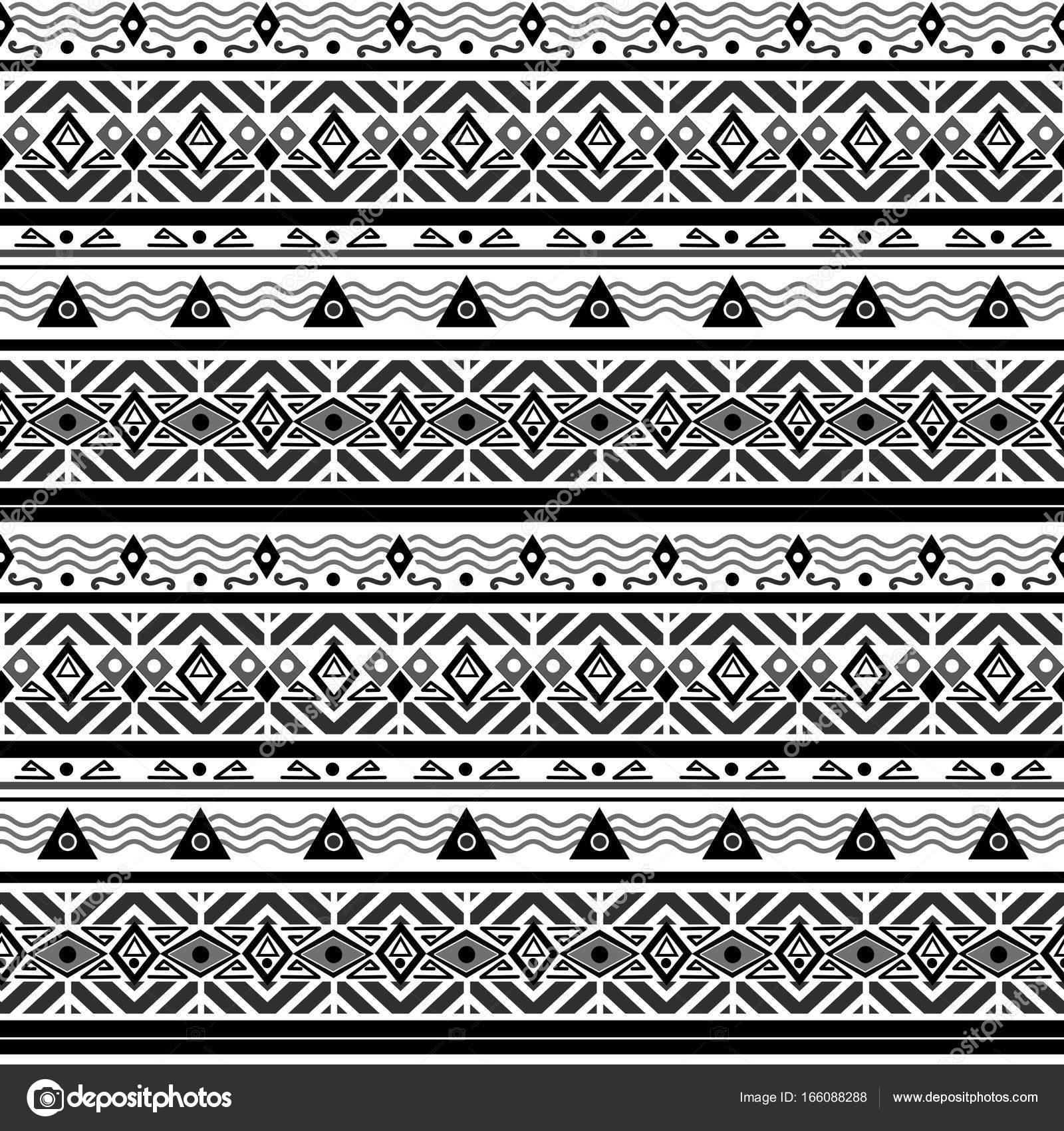 Ethno Muster nahtlose monochrome folk ethno-muster — stockfoto © fuzzyfoxer