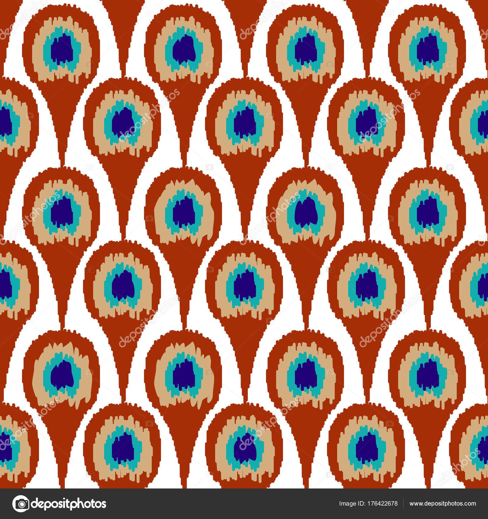 Fondo de diseño de plumas de pavo real de patrones sin fisuras ...