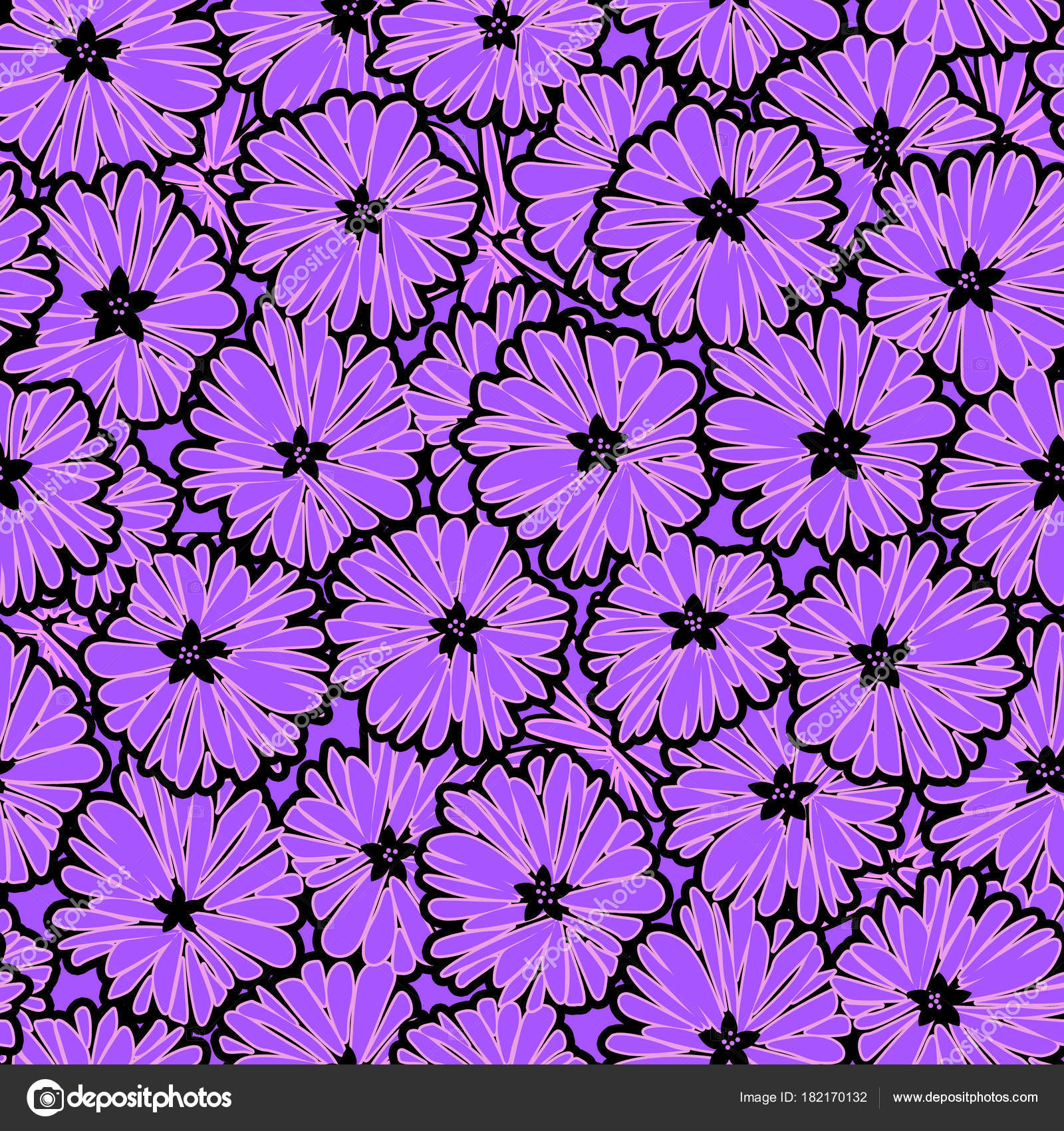 Seamless Floral Daisy Flowers Pattern Stock Photo Fuzzyfoxer